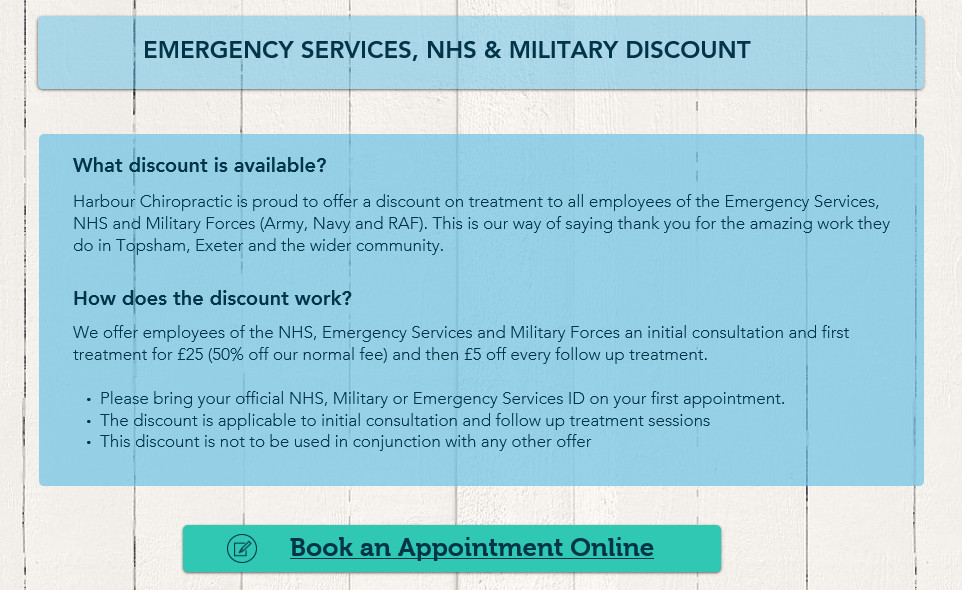 NHS, Emergency Services & Military discount